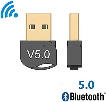 Bluetooth V5.0 Wireless USB Mini Dongle Adapter For Windows PC Laptop Lw