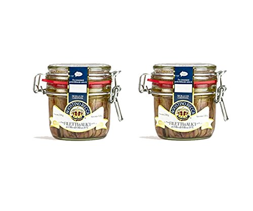 """Agostino Recca"" Fillets of Anchovies 8.1 oz (Pack of 2)"