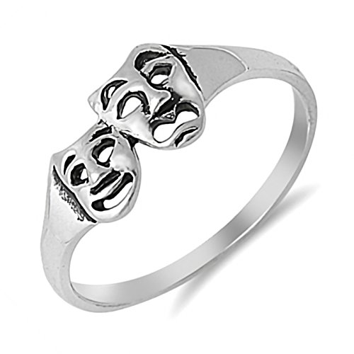 Smile Now Cry Later Sterling Silver Womens Ring Size -