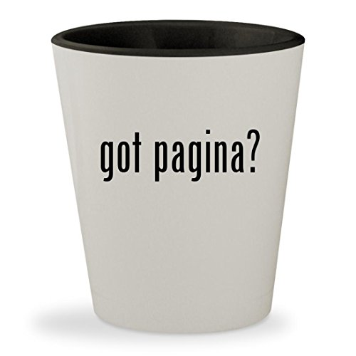 got pagina? - White Outer & Black Inner Ceramic 1.5oz Shot Glass