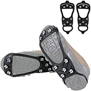 Ice Cleats Snow Shoe Spikes Crampons Ice Grips Traction Cleats for Shoes and Boots Rubber Ice Grippers Suitabl
