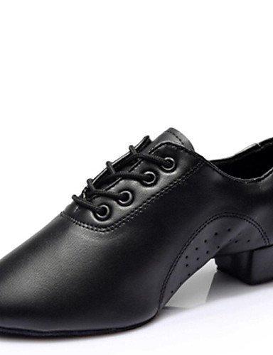 Talon Shangyi Noir Bas Latine Personnalisables Chaussures Non De Danse Black Similicuir xYgF4Tnx