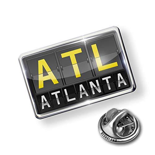 NEONBLOND Pin ATL Airport Code for Atlanta ()