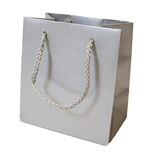 "American # 5685121MP, Silver, Gloss Laminated EuroTotes, 5.5"" x 3.5"" x 6"", Euro Tote Bags (50 per case)"
