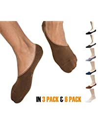 Thirty48 Men No Show Loafer Socks, Boat Shoe Liners with CoolPlus, Non-Slip Grip