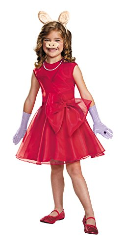 UHC Girl's Miss Piggy Theme Outfit Child Halloween Fancy Costume, Child M (7-8)