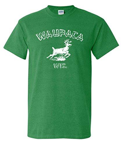Strange Cargo Waupaca Wisconsin Parody T-Shirt L Heather Kelly Green ()