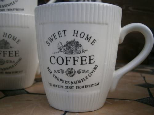 Set of 4 Vintage Cottage Coffee Mugs Cups Coffee Cups
