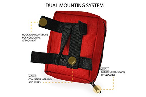Northbound Train First Aid Kit, Fully Stocked – IFAK – Premium Contents for Tactical First Aid, Camping, Travel, and Hiking