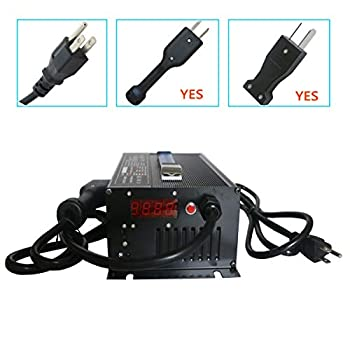 Image of 36V 15A Golf Cart Battery Charger with Crowsfoot Style Connector Crowfoot Plug AC Adapters