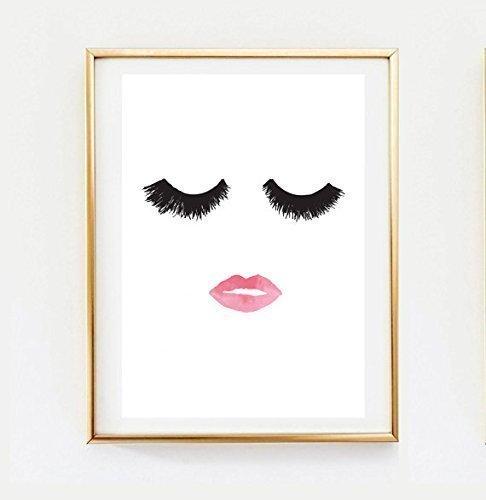 Amazon.com: Makeup Print, Wall Decor, Home Decor, Wall Art ...