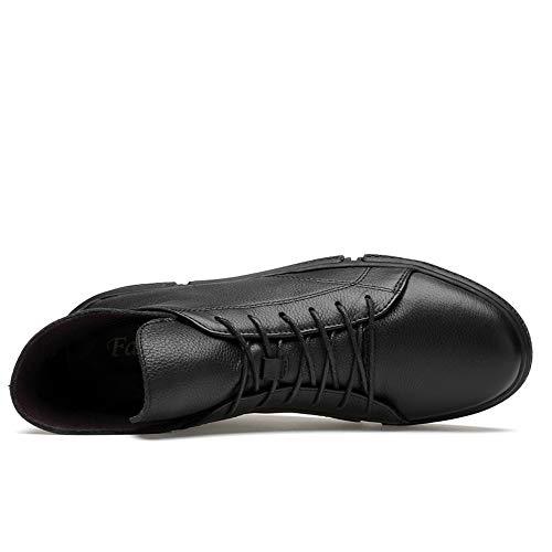 Informal Invierno convencional Dentro Superior Ruiyue Bota El Faux Tamaño De Botas 40 Para Gran Moda Eu Opcional Polar Hombre color Negro Negro BwB8X6