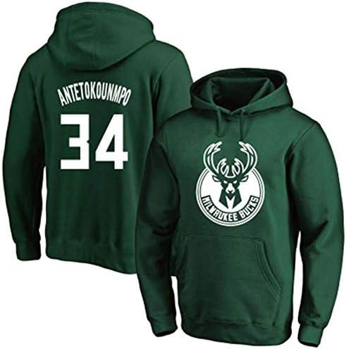 No. 34バスケットボールフーディー、メンズセーター、長袖プルオーバーフーディー、34#スポーツセータージャケット、No。34ファンジャージ、メン