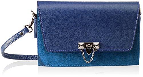 Blue hombro Blue Mujer Borse de Bolso 1638 Azul Chicca xwfpUq10OH