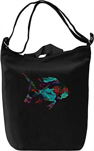 Colourful Fish Borsa Giornaliera Canvas Canvas Day Bag| 100% Premium Cotton Canvas| DTG Printing|