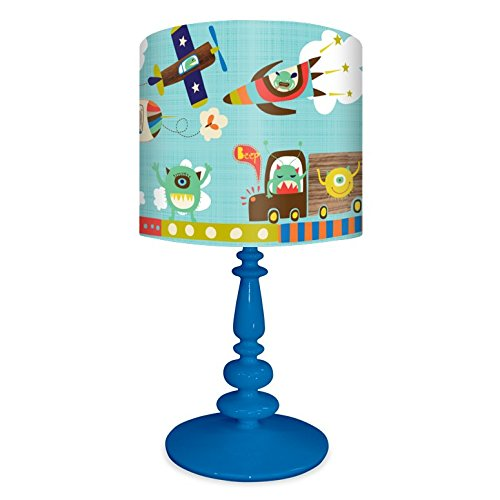 Oopsy Daisy NB14943 Alien Invasion on Resin Blue Base Table Lamp, 11