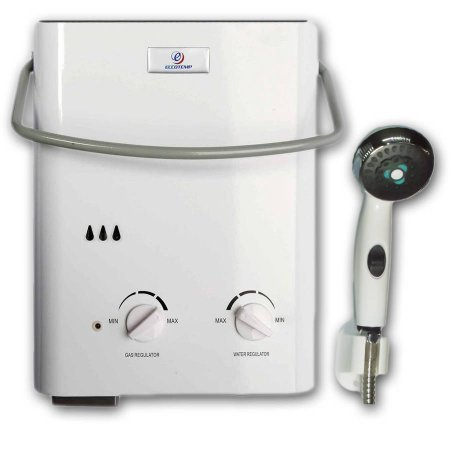 1.5 GPM Flow Capacity Battery Igniter Tankless Portable Water Heater