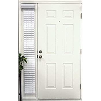 Amazon Com Faux Wood Sidelight Blinds For Doors 8 5 Quot W X