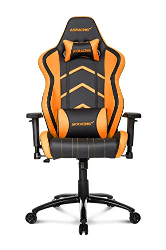 AKRacing Player Super-Premium Gaming Chair with High Backrest, Recliner, Swivel, Tilt, Rocker and Seat Height Adjustment Mechanisms with 5/10 warranty Orange ()