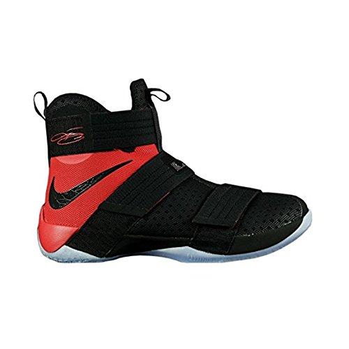 Zapatillas de baloncesto Nike Zoom LeBron Soldier 10 SFG para hombre Black Red 844378-006 (12.5)