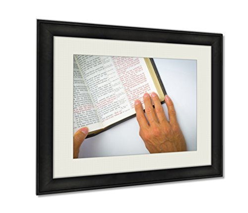 Ashley Framed Prints, Open Bible And Verses, Wall Art Decor Giclee Photo Print In Black Wood Frame, Ready to hang, 24x30 Art, AG6605473