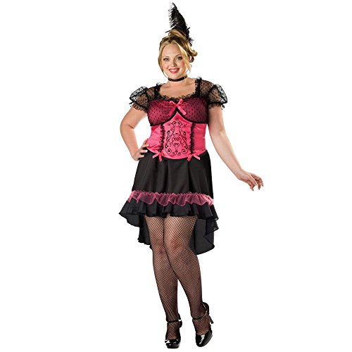 Plus Size Saloon Girl Costumes (Saloon Girl Adult Costume - Plus Size 3X)