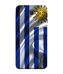 ColorKing Football Uruguay 01 Grey shell case cover for Samsung Galaxy J7 Prime