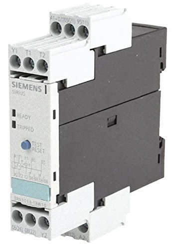 Protection Relay - Siemens 3RN1013-1BW10 Thermistor Motor Protection Relay, Screw Terminal, Standard Evaluation Units, 2 LEDs, 22.5mm Width, Manual/Auto/Remote Reset, 2 CO Contacts, 24-240VAC/VDC Control Supply Voltage