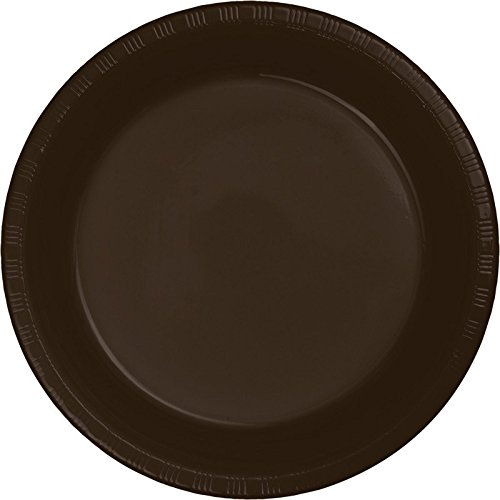 3038 Chocolate - Chocolate Brown Plate (S) 20ct [Contains 1 Manufacturer Retail Unit(s) Per Amazon Combined Package Sales Unit] - SKU# 28303811