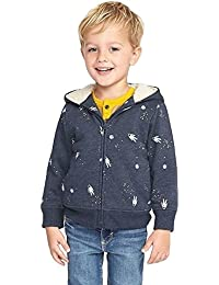 Going to Space Hoodie For Toddler 3T Boys Sherpa-Lined Zip!