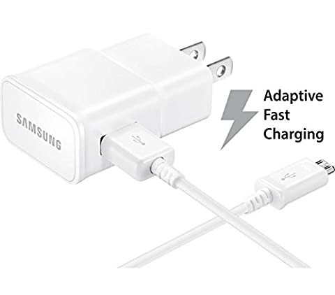 AT&T Samsung Galaxy S7 Active Adaptive Fast Charger Micro USB 2.0 Cable Kit! [1 Wall Charger + 5 FT Micro USB Cable] AFC uses dual voltages for up to 50% faster charging! - Bulk - Cyber Frame