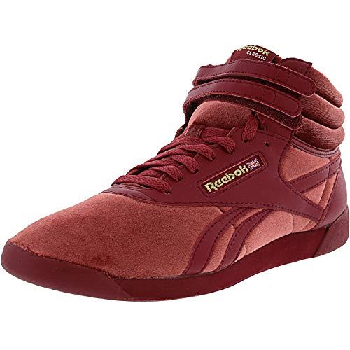 Reebok F/S Hi Velvet 2 Urban Maroon/Gold High-Top Fashion Sneaker - 7M