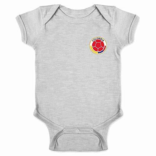 Colombia Futbol Soccer Retro National Team Sports Gray 6M Infant Bodysuit - Infant Replica Onesie Jersey