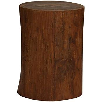 Bare Decor Adi Round Tree Stump End Table / Stool