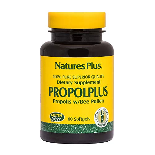 Natures Plus Propol Plus - 180 mg, 60 Softgels - Pure, Superior Quality Bee Propolis Supplement with Bee Pollen, Immune Booster, Anti Inflammatory - Gluten Free - 60 Servings ()