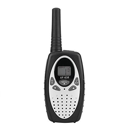 fosa walkie-talkie,Paire de Talkies Walkies radio bidirectionnelle 22 canaux 3 km de long Distance Interphone parfait pour l'aventure randonnée camping(Argent)