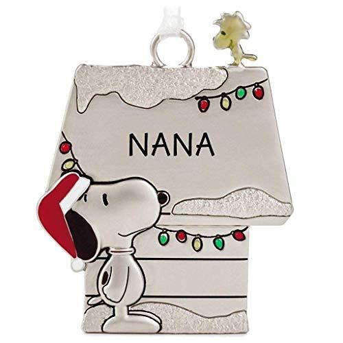 (Hallmark Peanuts Snoopy and Woodstock Charmers Nana Metal Christmas Ornament)
