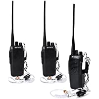 TWAYRDIO UHF 400-470MHz 10W Two Way Radio 70CM 16CH VOX 3000mAh Battery Handheld Walkie Talkie with Covert Air Tube Earpiece