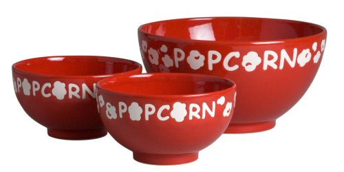 Waechtersbach Popcorn Bowls, Hostess Set of 3, Cherry/White for sale  Delivered anywhere in USA