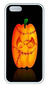 halloween graphic pc Silicone Case Cover for iPhone 5/5S White