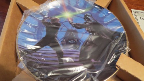 The Hamilton Collection Star Wars Trilogy Collector Plate: Luke Skywalker and Darth Vader