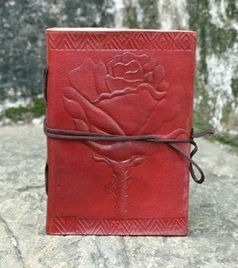 Genuine Handmade Celtic Rose Leather Journal Notebook Dairy Gift for Something Spacial Person by Genuine Leather Art