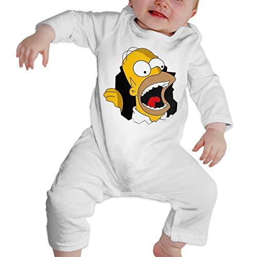 RLAZANAA Ho-mer Sim-p-Son Long Sleeve Baby Onesie Bodysuits (2T) -
