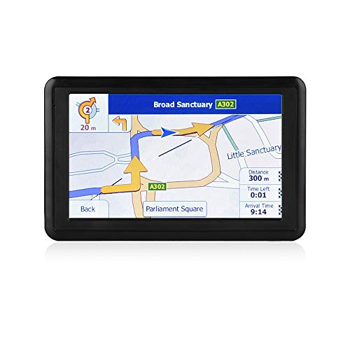 NETVIP GPS Navigation for Car 5 inch HD Touch Screen, Vehicle GPS Navigator Voice Traffic Warning Speed Limit Reminder, GPS Navigation System with 8GB Large Storage, Lifetime Maps Update for Free