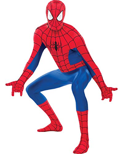 Costumes USA Spider-Man Partysuit for Adults, Size Large, Includes a Spandex Partysuit with Convenient Double -