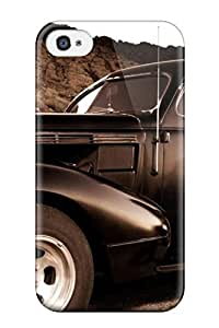 Excellent Iphone 4/4s Case Tpu Cover Back Skin Protector Girl And Vintage Car Sepia Old Looking Photo Car