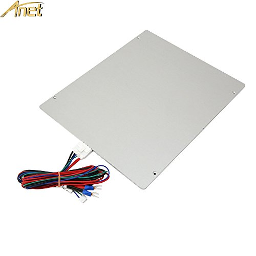 ANET Aluminum Heated Bed, Upgrade MK2 MK3 12V Hotbed with Cable Line for ANET E2 E10 3D Printer - Large Print Size Hot Bed 220 x 270 x 3mm by Anet