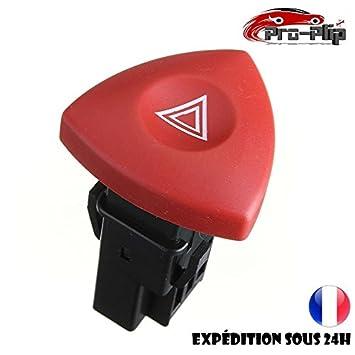 Botón Warning rojo luz de emergencia Renault Trafic Clio Espace Laguna Vel Satis Opel Vivaro, Nissan Primastar @ pro-plip: Amazon.es: Electrónica