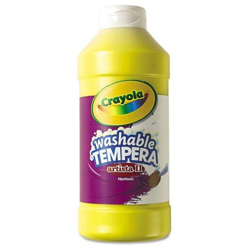 (Crayola Artista II Washable Tempera Paint 16oz Yellow )