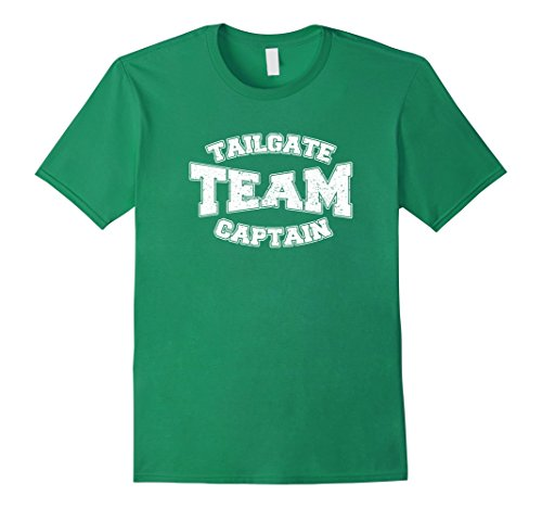 Dad T-shirt Team Green (Mens Tailgate Team Captain Tshirt Football MOM DAD SISTER BROTHER Large Kelly Green)